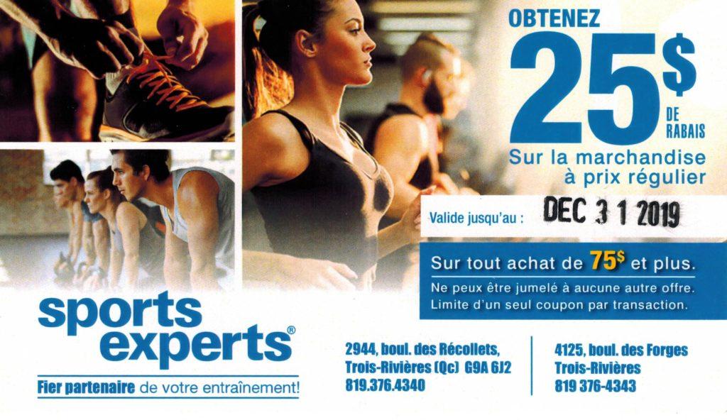 Partenariat Sports Experts Trois-Rivières
